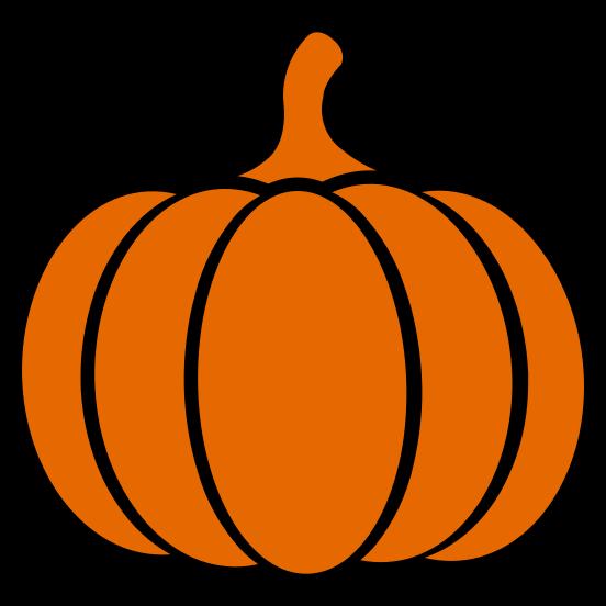 Orange Pumpkin on black background
